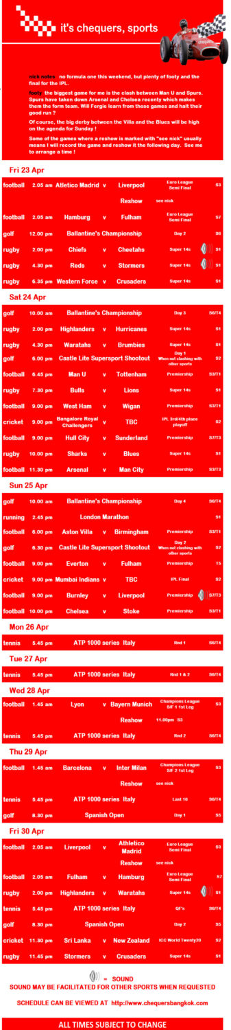 img 00016 - Chequers Pub Sports Schedule