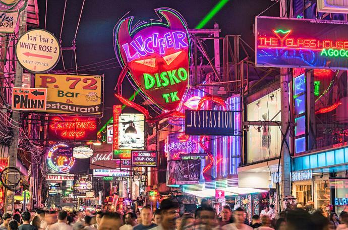 pattaya walking street - Pattaya Night Scenes Video