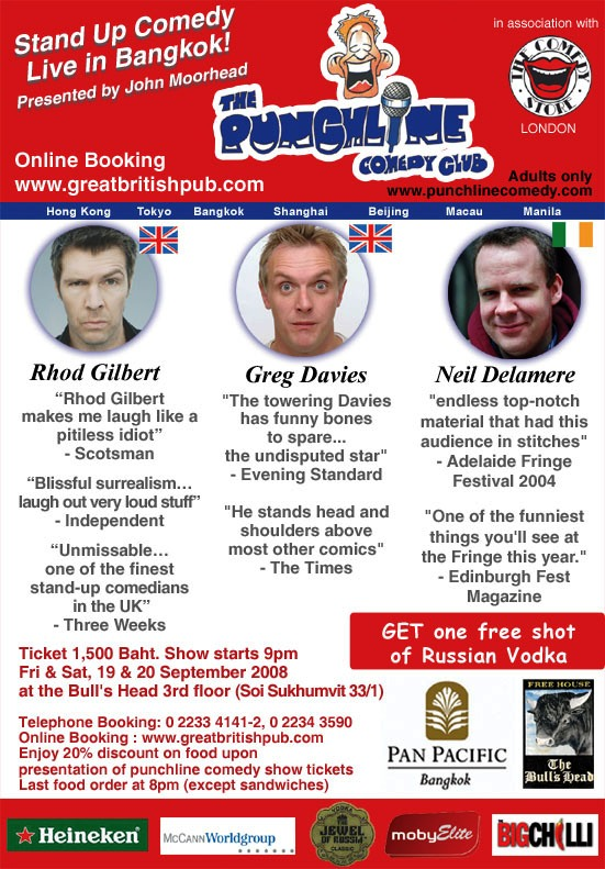 Punchline Comedy Club Poster