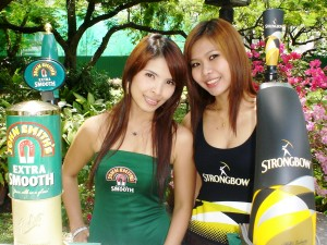 JOHN SMITH\'S BITTER & STRONGBOW CIDER PROMO GIRLS