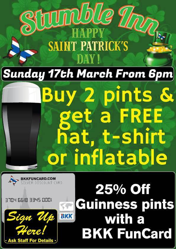 stumble inn saint patricks 1 - Enjoy Saint Patrick's Day!