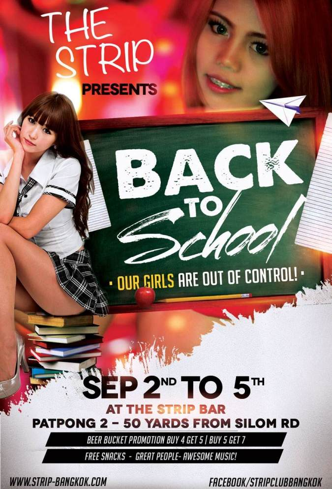 the strip back to school - SEXY SCHOOLGIRLS PARTY IN PATPONG
